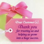 Dear Customers