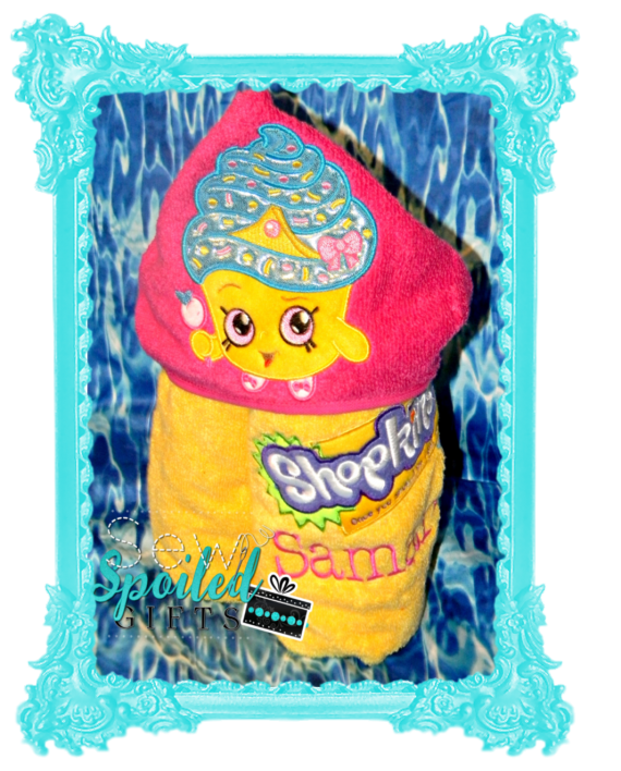 Cupcake Princess hooded towel