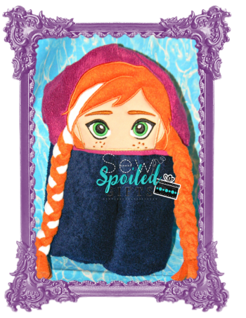 Ice Princess hooded towel