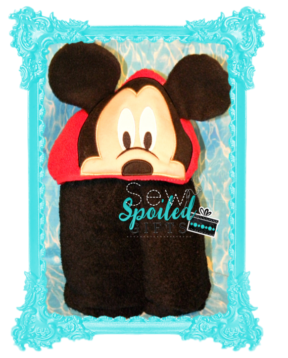 Mr. Mouse hooded towel