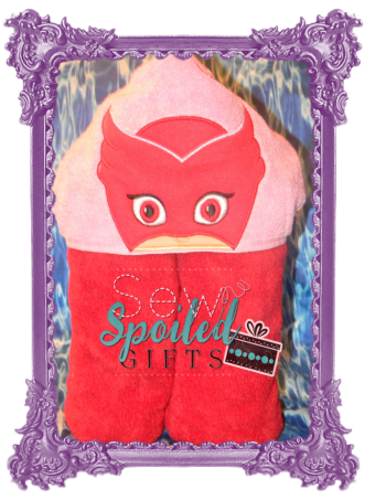 Owl Girl hooded towel