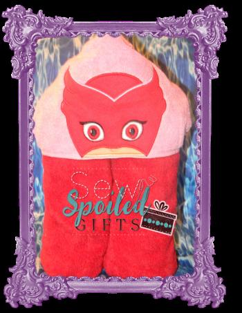 Owl Girl hooded towel