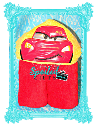 Race Car hooded towel