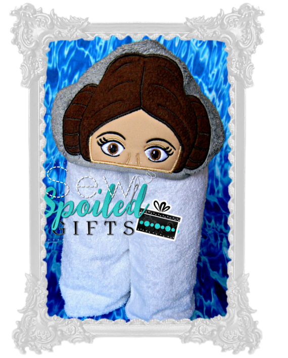 Star Princess hooded towel