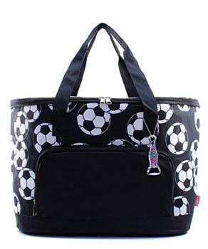 Soccer Print Insulated Cooler Shoulder Bag Gift