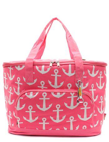 Pink Anchor Insulated Cooler shoulder Bag Gift