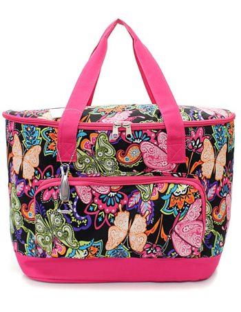 Pink Butterfly print cooler shoulder bag gift