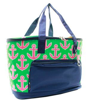 Pink & Green Anchor Insulated Cooler Bag Gift