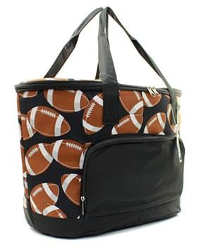 Football Print Insulated Cooler Shoulder Bag Gift